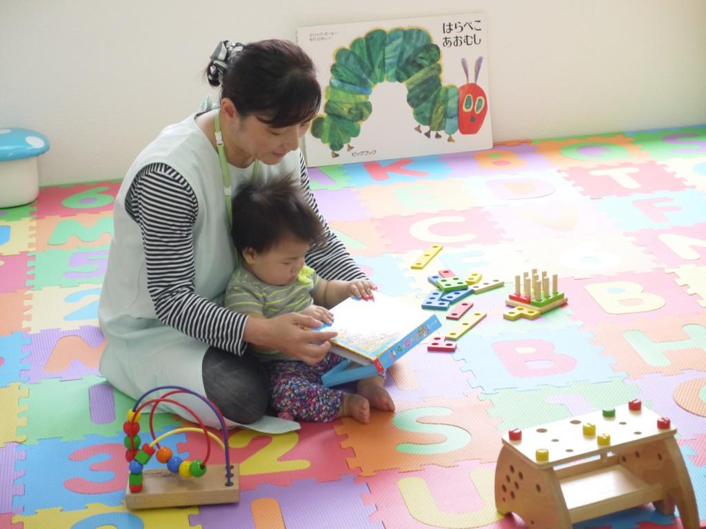 大阪の病児保育スタッフと子ども